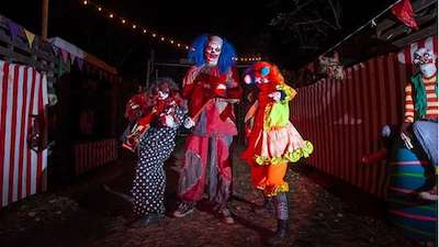 three people dresses up as monsters