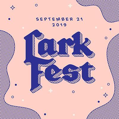 larkfest logo and performer