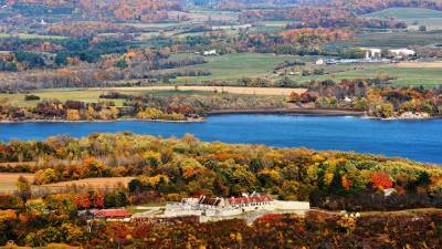 fall aerial view