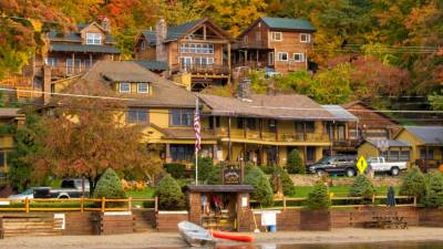 view of Trout House Village Resort in fall