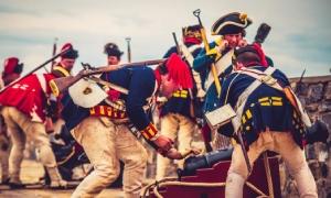 reenactors at fort ticonderoga