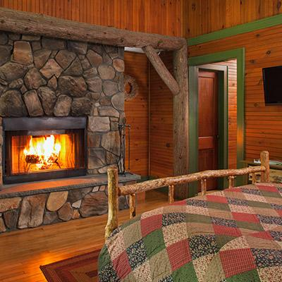 lodging options with fireplaces