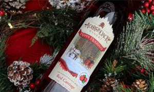 bottle of adirondack winery red carriage wine