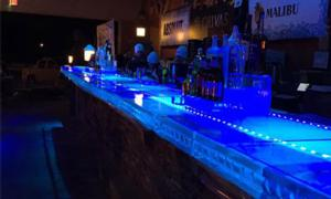 ice bar at the mill at round lake