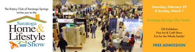 saratoga home & lifestyle show logo with image of people at the festival