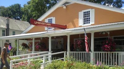 exterior of UpRiver Cafe