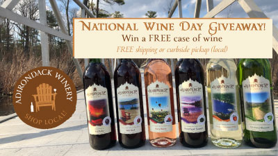 six bottles of Adirondack Winery wine