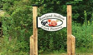 Rowland Hollow Creek Preserve sign