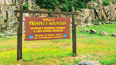prospect mountain highway sign