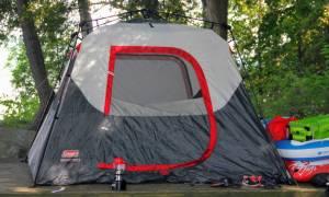 gray camping tent