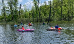 paddlers on a river