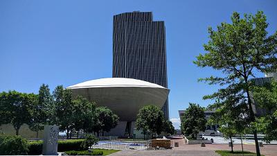 the egg and corning tower in albany ny