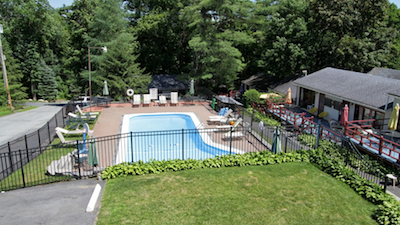 pool outside of Cramer's Point Motel & Cottages