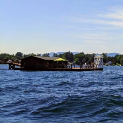 floating dock on lake