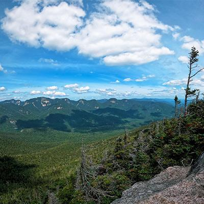 view from a mountain summit