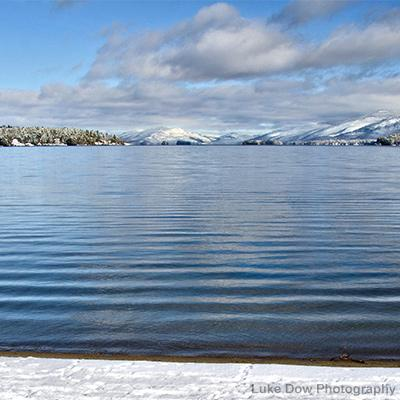 lake george in the winter