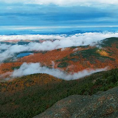 view from summit of cascade mountain in the fall