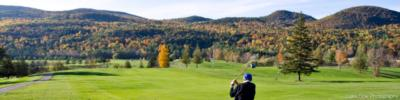 man golfing in fall