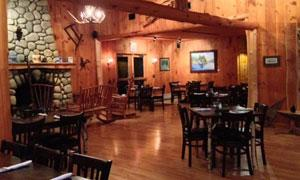 rustic restaurant interior in schroon lake, ny