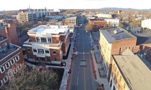 aerial view of south street in glens falls ny