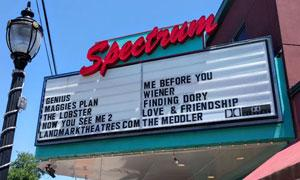 Spectrum movie theater sign