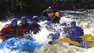 a whitewater rafting trip