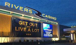 the outside of Rivers Casino