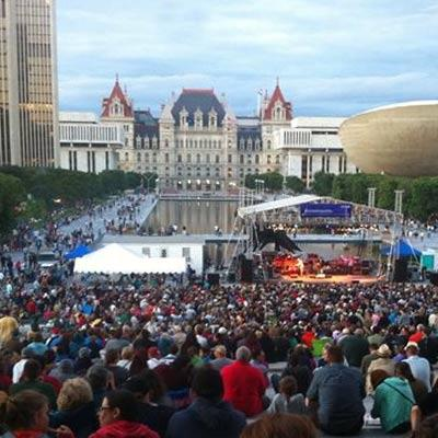 crowds at summer events in albany