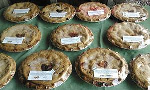 a table with pies